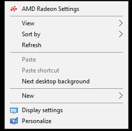 Open Radeon™ Settings